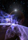 Digitale Illustratie van een Ruimtescène Stock Foto's