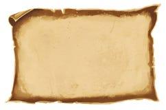 Digitale illustratie van een stuk van oud bruin versleten parchementdocument Oude rol vector illustratie