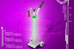 Digitale illustratie van zuurstofcilinder Royalty-vrije Stock Foto