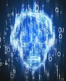 Digitale Illustration des Hackereindringens Stockbilder