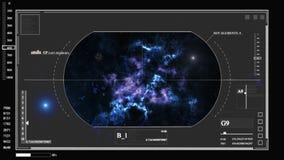 Digitale informatie over de kosmos, de planeet, diagrammen, hologrammen, grafiek HUD stock illustratie