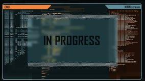 Digitale interface vector illustratie