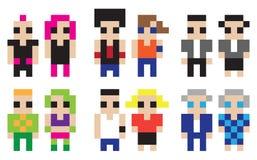 Digitale karakters vector illustratie