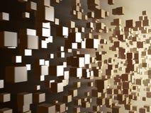 Digitale kubusstroom vector illustratie