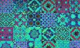 Digitale kunst als achtergrond van bloemen/bloempatroon royalty-vrije illustratie