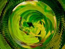 Digitale kunst: Groene harmonie stock afbeelding