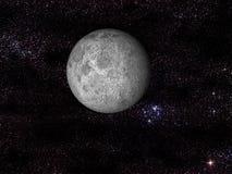 Digitale maan in ruimte Vector Illustratie