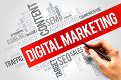 Digitale Marketing royalty-vrije stock afbeelding