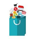 Digitale marketing en online verkoop Stock Foto's