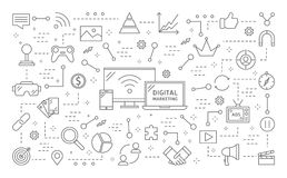 Digitale marketing illustratie stock illustratie