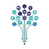 Digitale marketing illustratie Vlak Ontwerp royalty-vrije illustratie