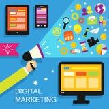 Digitale marketing reeks vector illustratie
