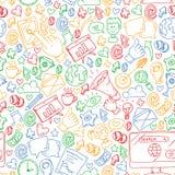 Digitale marketing, sociale media, mededelingen, beheer vector illustratie