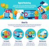 Digitale Marketing Website stock illustratie