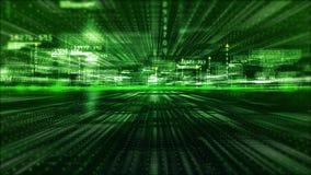 Digitale matrijsdeeltjes en lichte abstracte achtergrond De technologieconcept van de motiegrafiek stock video