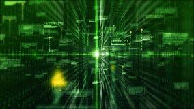 Digitale matrijsdeeltjes en lichte abstracte achtergrond De technologieconcept van de motiegrafiek stock footage