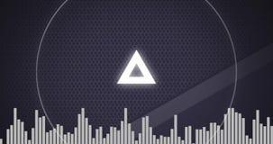 Digitale Medien 4k Techno-Dreiecks stock video footage