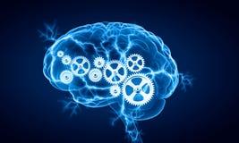 Digitale menselijke hersenen royalty-vrije stock afbeeldingen