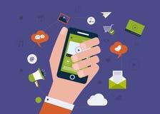 Digitale mobiele marketing royalty-vrije illustratie