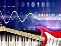 Digitale muziek Stock Afbeelding