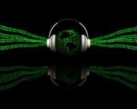 Digitale muziek stock illustratie