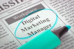 Digitale Op de markt brengende Manager Wanted 3d Royalty-vrije Stock Afbeeldingen
