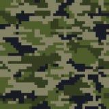Digitale pixelcamouflage stock illustratie