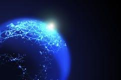 Digitale planeet royalty-vrije stock afbeelding