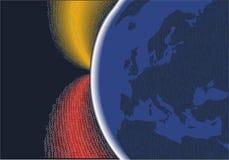Digitale planeet Europa Stock Fotografie