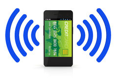 Digitale Portefeuille NFC royalty-vrije stock afbeelding