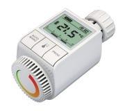 Digitale radiator thermostatische klep Stock Afbeeldingen