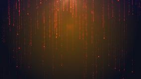 Digitale regen Abstracte technologic achtergrond met zich het bewegen onderaan deeltjes HD horizontale resolutie, vector illustratie