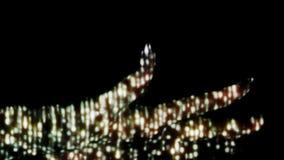 Digitale regen op menselijke hand stock videobeelden