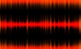 Digitale rode Correcte golven die achtergrond van de gloed de lichte, Abstracte technologie oscilleren royalty-vrije illustratie