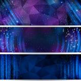 Digitale Ruimte Achtergrond met sterren en aantallen Royalty-vrije Stock Foto