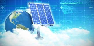 Digitale samenstelling van 3d zonnepaneel Royalty-vrije Stock Afbeelding