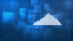 Digitale samenstelling van een financiële grafiek op een net stock illustratie