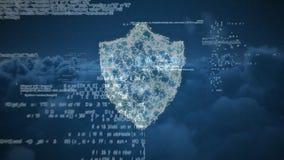 Digitale samenstelling van het coderingssysteem van een cyberslot royalty-vrije illustratie