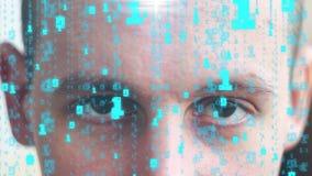 Digitale samenstelling van menselijk gezicht met stock footage