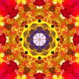 Digitale Schilderende Abstracte Kleurrijke Bloemenmandala background vector illustratie