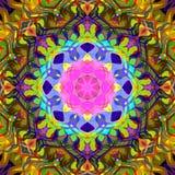 Digitale Schilderende Abstracte Kleurrijke Bloemenmandala background royalty-vrije illustratie