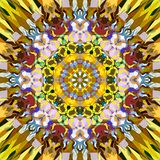Digitale Schilderende Abstracte Kleurrijke Bloemenmandala background stock illustratie