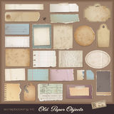 Digitale scrapbooking uitrusting: oud document Stock Foto