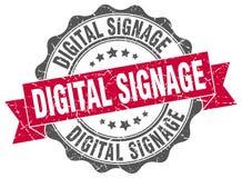 digitale signage verbinding zegel stock illustratie