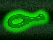 Digitale sleutel Royalty-vrije Stock Afbeeldingen