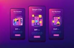 Digitale stadsgids en slim app van het stadsconcept ui ontwerp royalty-vrije illustratie