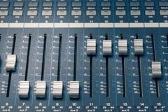 Digitale studiomixer Stock Afbeelding