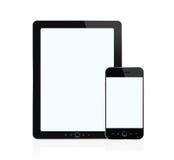 Digitale tablet en slimme telefoon Royalty-vrije Stock Afbeeldingen
