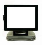 Digitale Tablet met horizontale positie inzake tribune Royalty-vrije Stock Foto