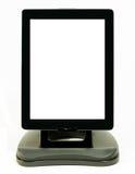 Digitale tablet met verticale positie inzake tribune royalty-vrije stock afbeelding